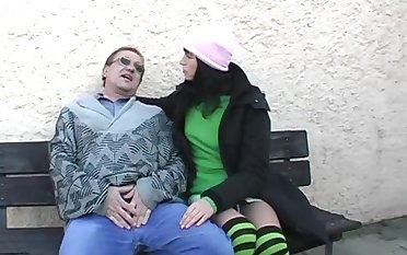 Amateur going to bed in the outdoors with cum in mouth be fitting of sexy Renate