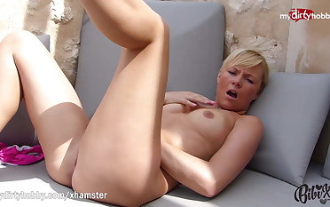 MyDirtyHobby - Petite blonde anal training with impetuous dildo