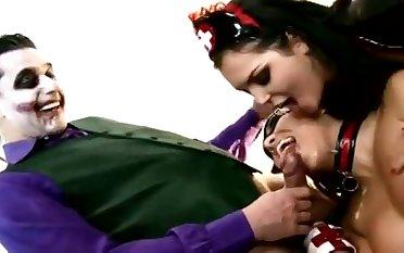 Crazy porn parody scene with horny Joker