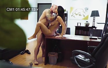 MILF filmed in secret when fucking with her boss