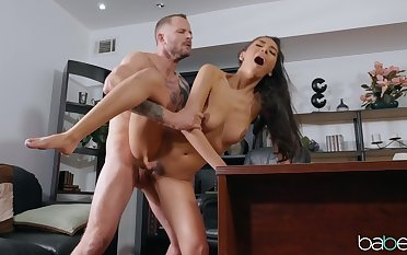 Costly screams her heart at large during her first post fuck