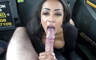 Alyssa Divine fucked in creative positions in the back of a cab