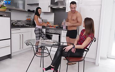 Kinky wife Amirah Adara fucked in tight ass in the kitchen