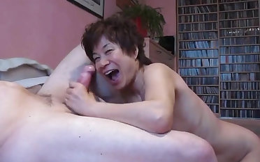 Mein japanischer slutgirl loves hard big cock with an increment of sucks them greedily