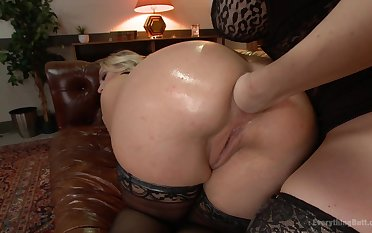 A remarkable lesbian fist going to bed anal scene in dirty XXX