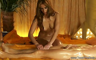 Turkish Massage Makes His Penis Harder Coupled with Enjoy The Moment