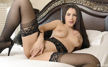 Horny slut Valentina Nappi gives a rimjob with the addition of gets fucked