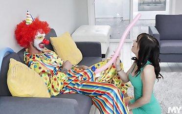 Kinky clown sex with adorable MILF starlet Alana Cruise