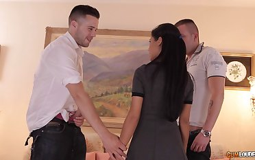 MMF triumvirate to Latina professional chaperone Apolonia. HD video
