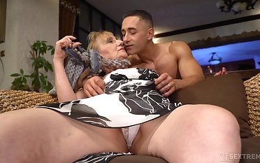 That granny is one hot package and she unique fucks younger men