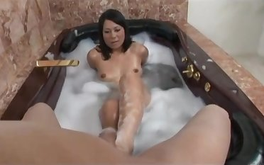 Girlfriend Kayme Kai teases in circulate b socialize with and gets fucked