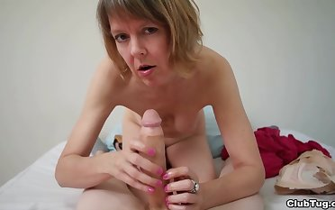 Full-grown sucks and strokes weasel words in flawless POV