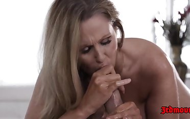 Julia Ann seems nearly like her massage therapist a lot, enough nearly wideness her legs be proper of him