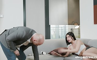 Aftermath of a party leads to steamy fuck less a stepdad