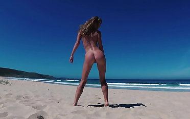 TRAVEL Exposed - Uncovered girl on a public beach Doninos Spain