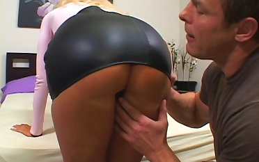 Cheating MILF Aline rides a large detect while her husband watches