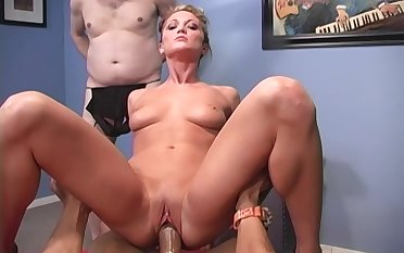 BBC cuckold fantasy becomes a reality coupled with Spring Thomas is one sexy whore