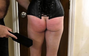 My Master spanked added to whipped my ass