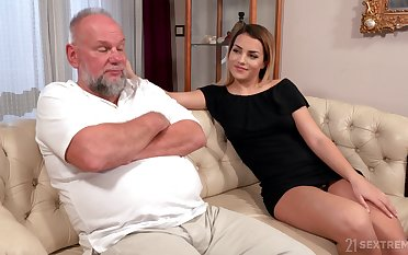 Older man is so into trample wet pussy belonged to Bianca Booty