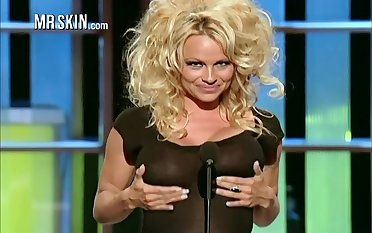 Famous all over the world busty blonde sexpot Pamela Anderson
