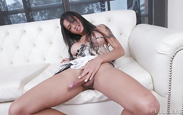 Amateur shemale Sweets Brendys loves playing with her manhood