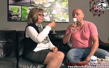 German grandma plus mature woman fuck grandson
