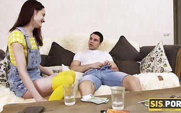 Playful stepsister loses a bet together with fucks her perverted stepbrother
