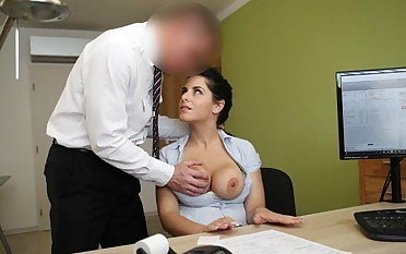 LOAN4K. Big-breasted hottie satisfies man to obtain necessary loan