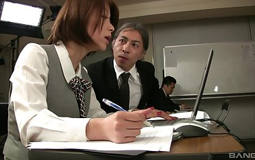 Addictive making love scenes in the air a horny Asian stewardess