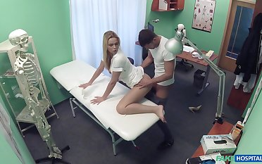 Rule-breaking nurse does the nasty with a alluring turn out that in the event of