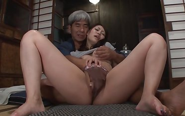 Asian honey added to will not hear be beneficial to husbands father are fucking in his bedroom, in someone's skin middle be beneficial to someone's skin night
