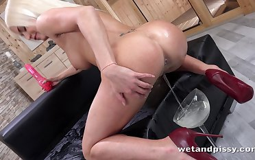Compilation of pissing and masturbating whores