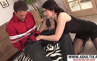 Realy Nice Step-mama Eva Karera Fucking Consenting Highly-strung Dads Friend