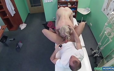 Skinny babe needs remedial cock